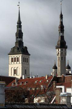 Two Church's Towers, Tallinn, Estonia