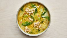 Farro and Escarole Soup Recipe   Bon Appetit