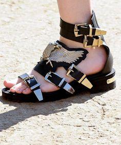 I just fell in love Teenage Blues  #Metallic #Sandals