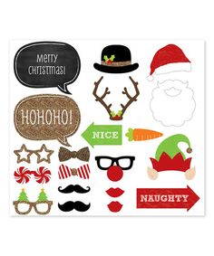 fd35cfce433 Love this Holiday Photo Booth Prop Kit on  zulily!  zulilyfinds Love  Holidays