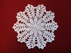First Doily 1 by kochia.scoparia, via Flickr   with written free pattern