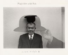 Magritte with Hat, 1965.  Duane Michals.
