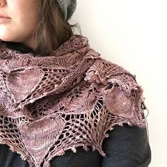Bien Aimee - a stunning lace shawl knit in Madeline Tosh Merino Light.