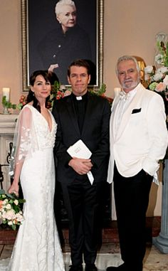 'The Bold and The Beautiful' Spoilers: Week of September 26 – Eric Weds Quinn - Wyatt Defends Mom from Steffy - Eric Collapses Rena Sofer, Katherine Kelly, Bold And The Beautiful, Be Bold, Marry Me, Funeral, Movie Stars, Bride, Wedding Dresses