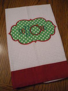 Christmas Appliqued Decorative by MissMelsMonogramming on Etsy