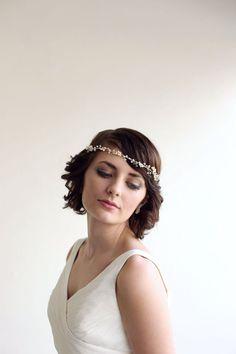 Bridal crown Pearl and Crystal Twig Hair Vine by MelindaRoseDesign, $215.00