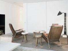 Mid-Century Modern Living Room in Brussels, Belgium by Nicolas Schuybroek architects