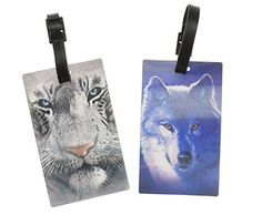 a0114af9cfcfc6 Ladies Mens Pair of 2 3D Beautiful Luggage Tags (Beach): Amazon.co.uk:  Luggage