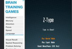 Brain Training Games at http://www.phoboslab.org/ztype/