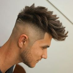 Long Spiky Hairstyle + High Skin Fade - Best Men's Hairstyles: Cool Haircuts For Men. Most Popular Short, Medium and Long Hairstyles For Guys Mens Medium Length Hairstyles, Mens Hairstyles Fade, Loose Hairstyles, Hairstyles Haircuts, Haircuts For Men, Fade Haircut For Men, Braided Hairstyles, Short Hair Mohawk, Mohawk Braid
