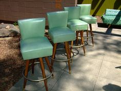 Love These Vintage Teal Barstools Would Look Great In My Kitchen