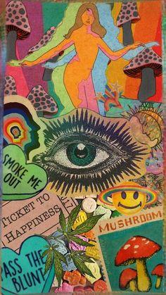Hippie Painting, Trippy Painting, Hippie Drawing, Arte Indie, Indie Art, Hippie Wallpaper, Trippy Wallpaper, Wallpaper Iphone Vintage, Wallpaper Backgrounds