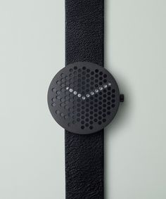 The Bikupa by Alexander Lervik, which features a face punctured by hexagonal holes, is now available to pre-order exclusively from Dezeen Watch Store Modern Watches, Cool Watches, Watches For Men, Fancy Watches, Simple Watches, Dezeen Watch Store, Bijoux Design, Aftershave, Vintage Design
