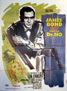 James Bond Dr No (large), 1970s - original vintage poster listed on AntikBar.co.uk