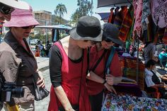 Indian Market - Buying some sourvenirs or just checking. #Otavalo #Ecuador #Tours #Travel #Vacations