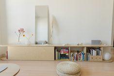 wood minimalist living room decor