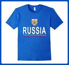 Mens Russia Soccer T-Shirt - Russian Football Jersey 2017 Large Royal Blue - Sports shirts (*Amazon Partner-Link)