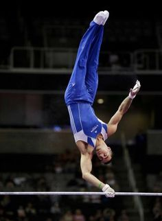 Danell Leyva competes on high bar during night one of the 2012 USA Gymnastics Olympic Trials. After prelims, he led the event standings. Gymnastics Events, Tumbling Gymnastics, Artistic Gymnastics, Olympic Gymnastics, Rhythmic Gymnastics, Mens Leotard, Male Gymnast, Olympic Trials, Olympic Games Sports