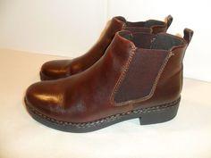 Eastland Women's Ankle Chuka Boots Genuine Leather Brown NICE SHAPE!-10 W #Eastland #Oxfords