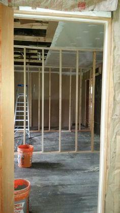 2 bedrooms starting to get framed