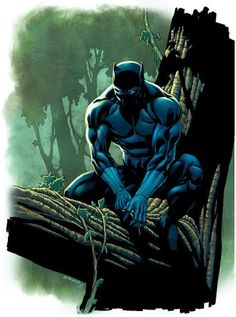 Black Panther ~ pencils by Robert Atkins
