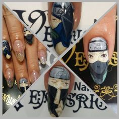 クリックすると閉じます anime nail art Naruto Kakashi Hatake Naruto Nails, Anime Nails, Naruto Kakashi, Naruto Shippuden, Kawaii Nail Art, Nail Patterns, Fabulous Nails, Nail Tutorials, Kobe