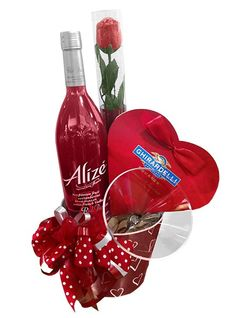Alizé Red Passion and Love Gift basket