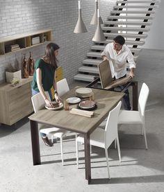 Descubre toda la selección de mesas extensibles Kibuc para comedor o cocina en…