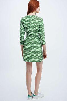 Peter Jensen Demi Apple Print Dress in Green