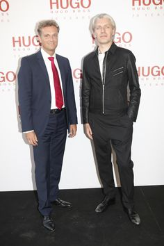Stephan Born (Managing Director HUGO BOSS UK), Bart de Backer (Senior Head of Creative Management HUGO Menswear)