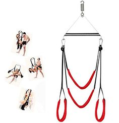 Sex Swing Fetish Toys,Umitering Luxury Heavy Duty Indoor Swing with Steel Triangle Frame and Spring for Fetish Sex Bondage Unisex, Durable Nylon Holds for Couple Indoor Swing, Kinky, Just In Case, Unisex, Pure Products, Luxury, Couples, Toys, Leather