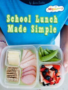Simple School Lunch Ideas School lunch plan #vegetarian #glutenfree #pickyeaters