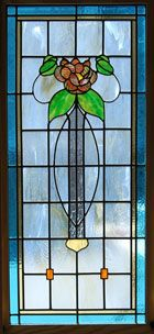 Bungalow stained glass window B12