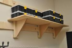 French Cleat Garage Storage System [Archive] - Mobile Sound Science Forum - Fact Based Car Audio for the DIY Enthusiast Garage Storage Shelves, Garage Storage Systems, Lumber Storage, Bike Storage, Tool Storage, Workshop Storage, Workshop Organization, Garage Organization, Organization Ideas