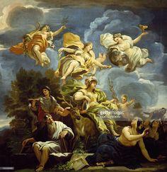 Kunstwerken allegory of prudence by luca giordano oil on canvas