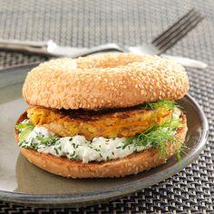 Découvrez la recette Hamburger végétarien sur cuisineactuelle.fr.