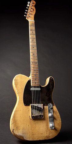 1954 Fender Telecaster – from Ed King's collection - Vintage guitars Fender Stratocaster, Gretsch, Telecaster Vintage, Fender Telecaster Mexican, Telecaster Custom, Fender Guitars, Fender Relic, Fender Vintage, Beginner Electric Guitar