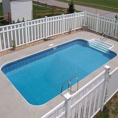 Pool Warehouse had 16 x 32 Rectangle In-ground Swimming Pool Kit in stock and ready to ship! Our pool kits come with everything you need for installation. Swimming Pool Size, Oberirdischer Pool, Small Inground Pool, Above Ground Swimming Pools, Small Pools, Swimming Pool Designs, Pool Decks, In Ground Pools, Pool Backyard