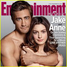 I don't know what Anne Hathaway thinks she's doing with my boyfriend in this photo, but all I know is that she better get outta there before I come up there and remove her myself. Mhm. I love Jake.