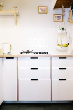 Ikea Kitchen Birch plykea - cool ply fronts and counters for ikea kitchen cabinets