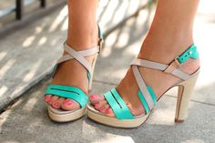 Rag & Bone Cayman high-heel sandals in aqua suede