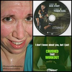 Happy #WorkoutWednesday!  I crushed Les Mills Combat Kick Start this morning.  My sweat is CRYING!! #health #fitness #fit #fitnessaddict #fitspo #workout #bodybuilding #cardio #gym #train #training #healthy #healthychoices #active #strong #motivation #determination #lifestyle #diet #getfit #cleaneating #eatclean #exercise