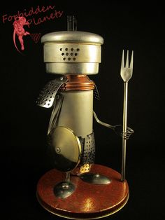 Robot Found Object Art Gladiator Robot by ForbiddenPlanets on Etsy, $250.00