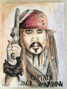 My Painting of Captain Jack sparrow
