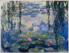 (France) Water Lilies 1916-19 by Claude Monet. Oil on canvas.