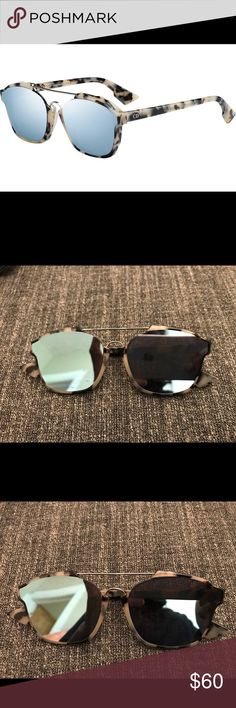 46a0962e958 Christian Dior Sunglasses Christian Dior Abstract sunglasses in blue tint.  Light scratches that are not noticeable on the lens depending on angle.