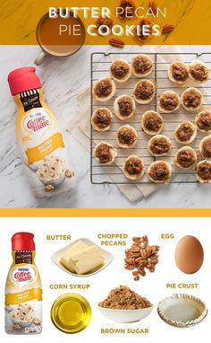 Who knew you could enjoy delicious Coffee mate® flavors beyond your coffee cup? Check out our Butter Pecan Pie Cookies recipe. Pecan Pie Cookies, Cookie Pie, Cookie Cups, Cookie Swap, Just Desserts, Delicious Desserts, Yummy Food, Yummy Treats, Sweet Treats
