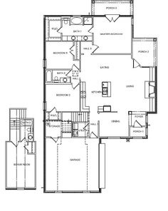 The DOGWOOD is 1839 Square Feet with 3BR/2BA and an upstairs bonus room
