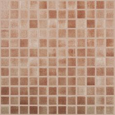 "Fog Brown Slip Resistant, 1"" x 1"" - Glass Tile"