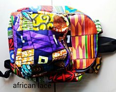Backpack Craft Accessories, African Lace, Tribal Prints, Backpacks, Random, Crafts, Bags, Fashion, Handbags